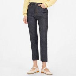 fabric straight denim pants (s m)