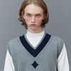 RC lambs wool knit vest (gray)