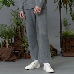 RC lambs wool knit slacks (gray)