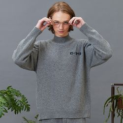 RC lambs wool half-pola knit (gray)