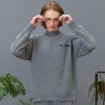 RC lambs wool half-pola knit (gray)
