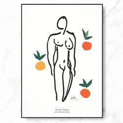마티스 명화 Nu Aux Oranges 엣지 액자 A3