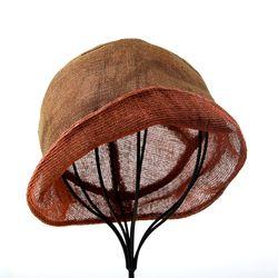 [더로라] 천연염색 린넨 패션 모자- 와이어 양면 NT8002