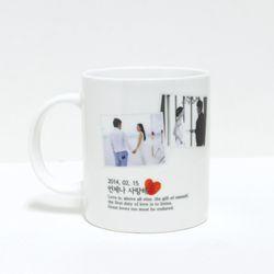 DIY 주문제작 포토 이니셜 머그컵 A16