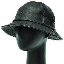 [플릭앤플록]EJU02.인조가죽 6각 벙거지 모자 버킷햇