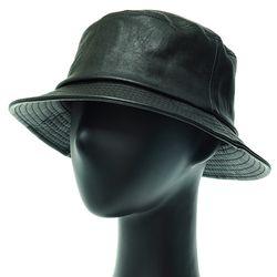 [플릭앤플록]EJU01.인조가죽 벙거지 버킷햇 힙합 모자