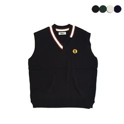 UNBALANCE NECK KNIT VEST(4COLOR)(UNISEX)