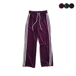 VELVET WIDE TRACK PANTS(3COLOR)여성용