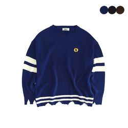 DESTROYED OVER-FIT SWEATER(3COLOR)UNISEX