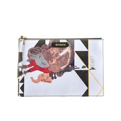 PARROM zipper clutch bag 화이트