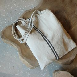 에코백 - Natural blue line Bag