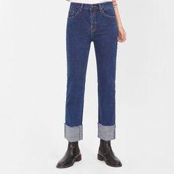 friend roll up denim pants (s m l)