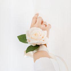 피치 로즈 꽃팔찌