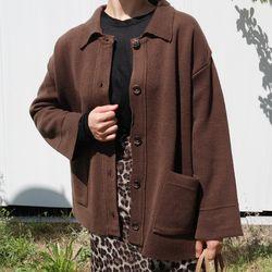 Thick knit jacket