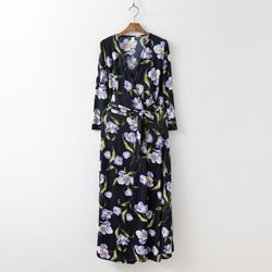 Anemone Wrap Long Dress