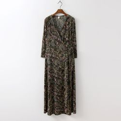 Paisley Wrap Long Dress