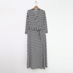 Chain Wrap Long Dress