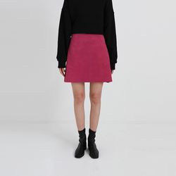 color suede mini skirt (2colors)