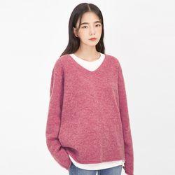 morning v-neck wool knit