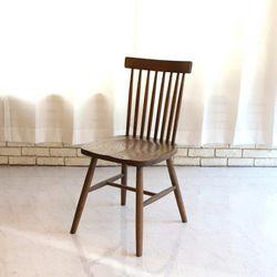 데니쉬 원목 월넛 의자