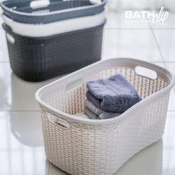 라탄 세탁 바스켓 40L_4가지 컬러