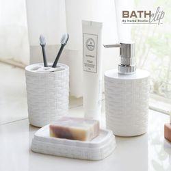 라탄 욕실용기세트 물비누통+치약칫솔홀더+비누받침