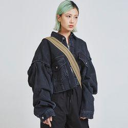 damaged over-fit denim jacket (2 color) - UNISEX