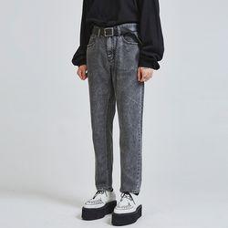 vintage denim gray jeans - UNISEX