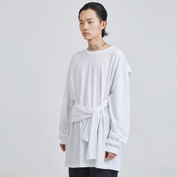 4 sleeves cotton tie long T (3 color) - UNISEX