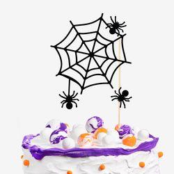 거미의 할로윈 파티 케이크토퍼 set