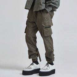 buckle cargo jogger pants (2 color) - UNISEX