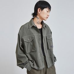 stitches field jacket (2 color) - UNISEX