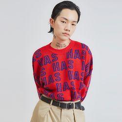 HAS lettering color knit (3 color) - UNISEX