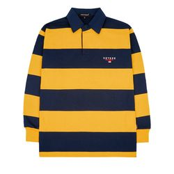 Stripe Rugby T-shirts (yellow)