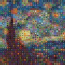 500조각 직소퍼즐 - 패턴이 빛나는 밤에 (LA500-042)
