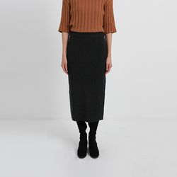 back slit knit long skirt (5colors)
