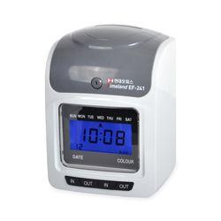 현대오피스 출퇴근기록기 EF-241 4란 디지털시계