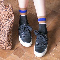 스트라이프 포인트 여성 패션 양말