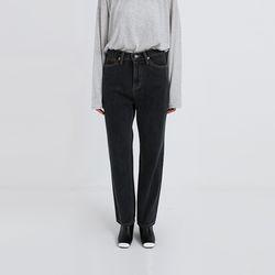 shadow black loose denim pants