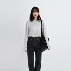 soft long round tee (4colors)