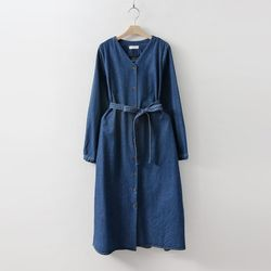 Indigo V-Neck Denim Dress