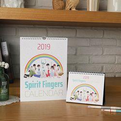 2019 스피릿핑거스 벽걸이캘린더