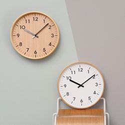 우드로하우스 무소음벽시계 원목 인테리어 거실 벽시계 32cm