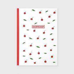 노트 Leaf cherries-white