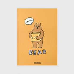 노트 Bear box-mustard
