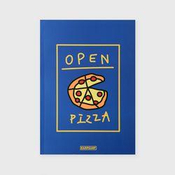 노트 Delicious pizza-blue