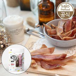 2개세트 우다다 수제간식 돼지귀 슬라이스 50g 애견간