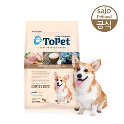 TOPET 치킨 올라이프 1.2kg 애견사료