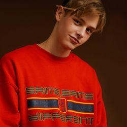 SLOGAN SWEAT SHIRT RED