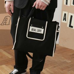 LINE TWO WAY BAG NO.2 (black)